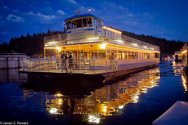 Coeur d'Alene returning from a sunset cruise on Lake Coeur d'Alene